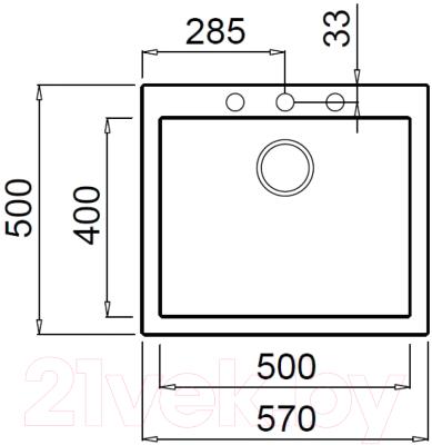Мойка кухонная Elleci Quadra 105 Fango K43