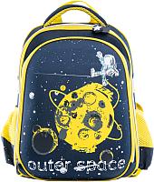 Школьный рюкзак Котофей 02704141-40 (черный/желтый) -