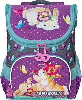 Школьный рюкзак Grizzly RA-981-1 (лавандовый/серый) -