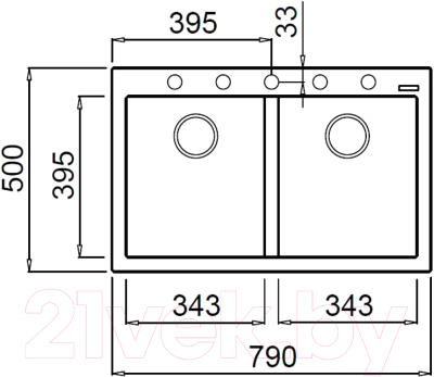 Мойка кухонная Elleci Quadra 350 Bianco Titano G68 / LGQ35068