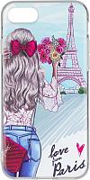 Чехол-накладка Case Print для iPhone 7/8 (париж) -