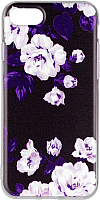Чехол-накладка Case Print для iPhone 7/8 (черно-белый цветок) -