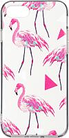 Чехол-накладка Case Print для iPhone 7/8 (фламинго) -