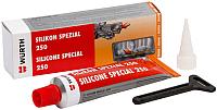 Герметик автомобильный Wurth Silikon Special 250 / 0890321 (70мл, красный) -