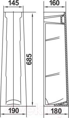 Пьедестал Керамин Омега Standard (графит)