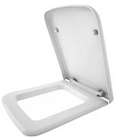 Сиденье для унитаза Керамин Квадро (жесткое, с плавным опусканием) -