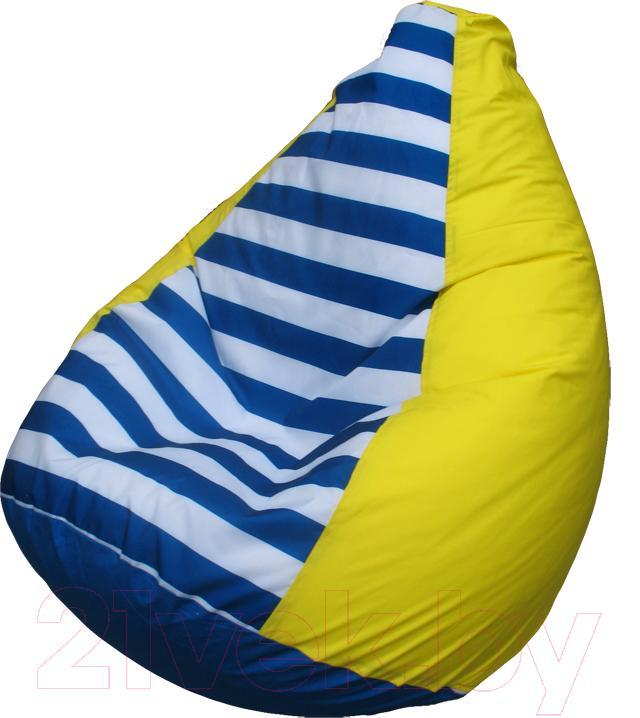 Купить Бескаркасное кресло Flagman, Груша Мега Г3.1-0717 (желтый в полоску), Беларусь, оксфорд