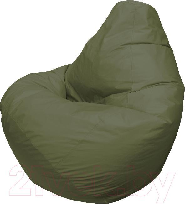 Купить Бескаркасное кресло Flagman, Груша Мега Г3.2-04 (темно-оливковый), Беларусь, зеленый, оксфорд
