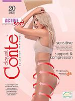 Колготки Conte Elegant Active Soft 20 (р.3, natural) -