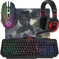 Клавиатура+мышь Defender Target MKP-350 / 52350 (с ковриком и наушниками) -