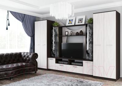 Стенка Просто Хорошая Мебель Ж №8 / 00-00046375 (дуб венге/ясень анкор светлый)