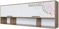 Полка SV-мебель Гарвард Ж над кроватью (гикори темный/белый) -