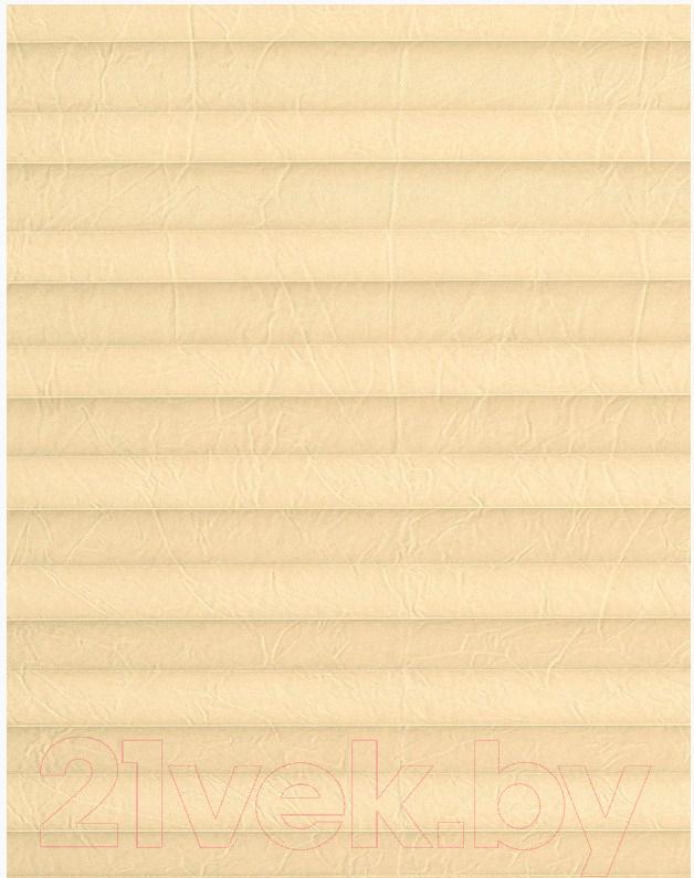 Штора-плиссе Delfa, Basic Crush СПШ-38504 (34x160, ваниль), Беларусь, ткань  - купить со скидкой