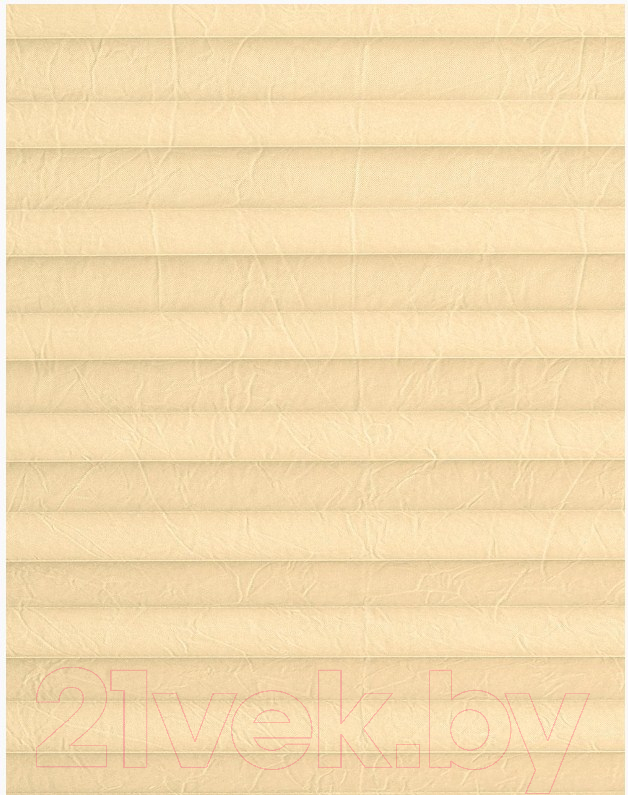 Штора-плиссе Delfa, Basic Crush СПШ-38504 (57x215, ваниль), Беларусь, ткань  - купить со скидкой