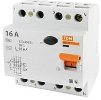 Дифференциальный автомат TDM ВД1-63 4Р 25А 30мА / SQ0203-0032 -