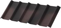 Лист кровельный Onduline Ондувилла с тенью 3D PE6256Ru (1070x400, коричневый) -
