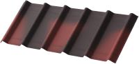 Лист кровельный Onduline Ондувилла с тенью 3D PE6255Ru (1070x400, красный) -