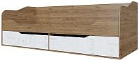 Кровать-тахта SV-мебель Гарвард Ж 90x200 (гикори темный/белый) -