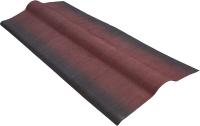 Конек кровельный Onduline А103 с тенью 3D F31A4Ru (красный) -