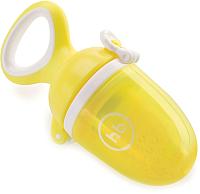 Ниблер Happy Baby 15053 с силиконовой сеточкой (лимон) -