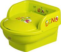 Детский горшок Maltex Дино Трон / 6401 (зеленый) -