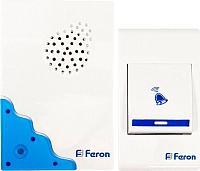 Электрический звонок Feron E-223 / 23679 (белый/синий) -