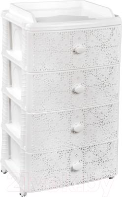 Комод пластиковый Альтернатива Лаура / М6791 (белый) -