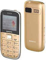 Мобильный телефон Maxvi B6 (золото) -