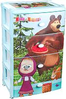 Комод пластиковый Альтернатива Маша и Медведь / М7251 -