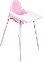 Стульчик для кормления Альтернатива М6248 (розовый) -