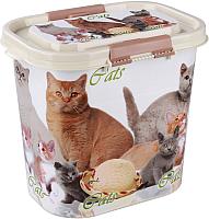 Емкость для хранения корма Альтернатива Cats / М5395 (10л, овальный) -