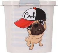 Емкость для хранения корма Альтернатива Dogs / М5394 (10л, овальный) -