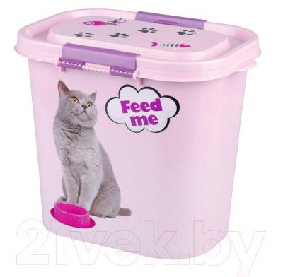 Емкость для хранения корма Альтернатива Феликс / М6964 (10л, розовый)