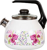 Чайник со свистком СтальЭмаль Мозаика 4с209я -