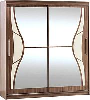 Шкаф SV-мебель Ж №16 2.0 с наклеенными стеклами (ясень шимо темный) -