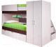 Двухъярусная кровать Мебель-КМК Бамбино 3-1 0527 (дуб атлант/дуб кентерберри) -