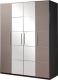 Шкаф Мебель-КМК 4Д Стефани 0649.3 (мокко/бетон бежевый) -