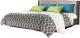 Двуспальная кровать Мебель-КМК 1600 Стефани 0649.4-01 (мокко/бетон бежевый) -