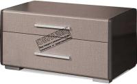 Тумба Мебель-КМК 2Я Стефани 0649.2 (холст серый/камень темно-серый) -