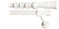 Карниз для штор Lm Decor Гиро 071 2р гладкий 25/19мм (белый глянец, 1.6м) -