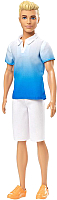 Кукла Barbie Кен в белых шортах и голубой рубашке / DWK44/GDV12 -