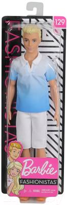 Кукла Barbie Кен в белых шортах и голубой рубашке / DWK44/GDV12