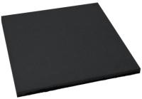 Резиновая плитка Ecoslab 500x500x16 (черный) -