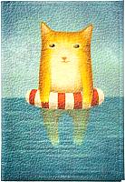 Обложка на паспорт Vokladki Котик в море / 11009 -