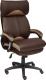 Кресло офисное Tetchair Duke кожзам/ткань (коричневый/бронзовый) -