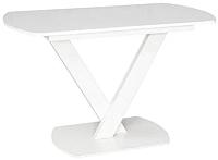 Обеденный стол Listvig Реал 120-152x70 (белый) -