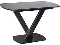 Обеденный стол Listvig Реал 120-152x70 (черный) -