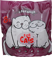 Наполнитель для туалета For Cats Силикагелевый с ароматом лаванды / TUZ035 (8л) -
