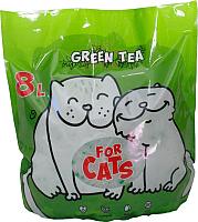 Наполнитель для туалета For Cats Силикагелевый с ароматом зеленого чая / TUZ038 (8л) -