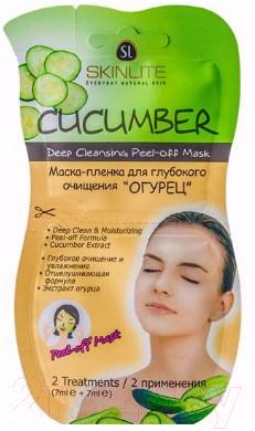 Купить Набор масок для лица Skinlite, Маска-пленка для глубокого очищения огурец (2x7мл), Южная корея